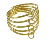 6 pc  gold finish with Loop Ring Base-9835