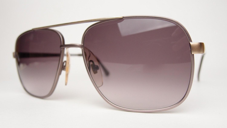 Aviator Eyewear Retro Mantle Vtg Satin Marsala Sunglasses Brown Gold qLUzVGjSpM
