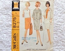 Vintage McCalls Suit Pattern 8275 Skirt Jacket 1966 Size 16 Uncut