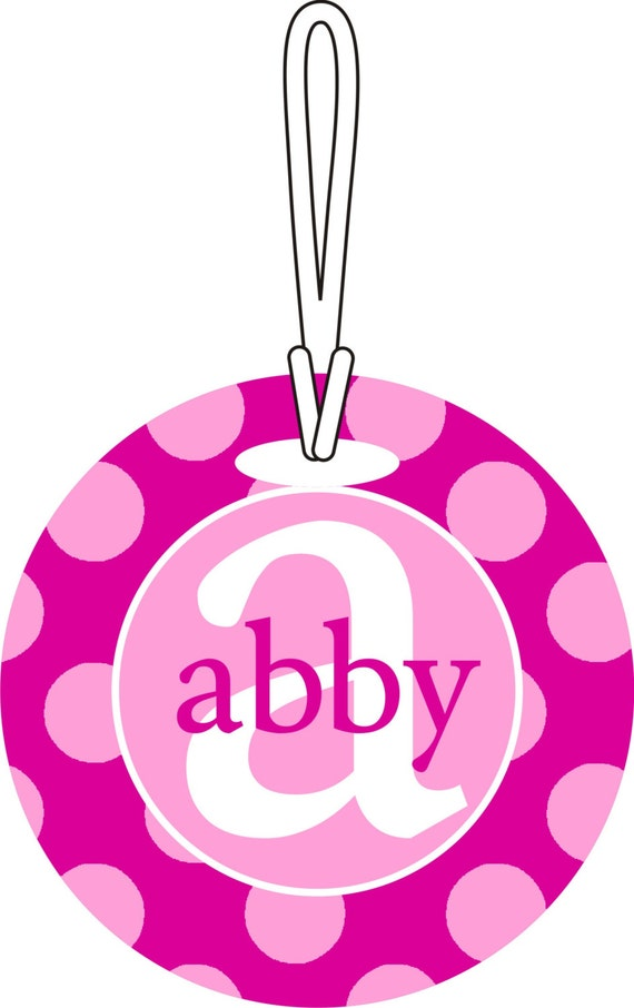 Personalized Custom Name and Initial bag luggage Tag