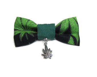 Bow Tie - Cat Bow Tie - Marijuana Tie