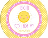 "You Are My Sunshine 10"" Melamine Plate, 20 oz. Bowl or 2 Piece Set 