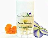 Christmas Tree Deodorant Natural- Organic Deodorant Stick with Tea Tree Oil and Organic Coconut Oil - Homemade Deodorant Tube