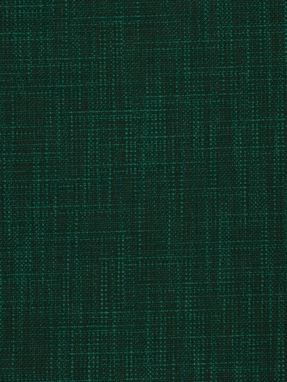 Dark Emerald Green Upholstery Fabric Woven Solid Color