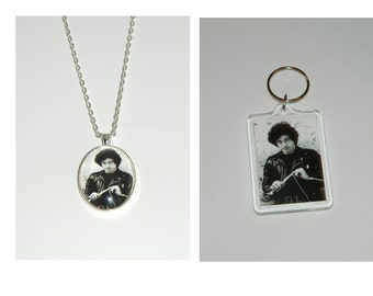 Billy Joel Glass Pendant Necklace or Keychain