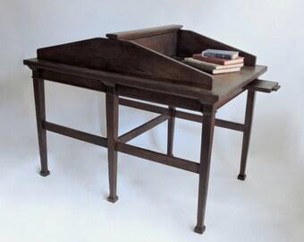 Schedule a Study Date. Antique Library Study Carrel circa 1900. Oak Partner's Desk.