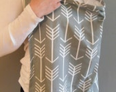 Custom order for Perpetuallypaisley's  Gray and white arrow nursing cover