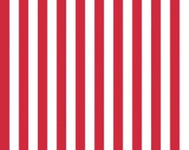 FABRIC-Red and White Striped Fabric by the Yard - Quilt Fabric - Apparel Fabric-Home Decor Fabric-Fat Quarters-Quilting Fabric-Craft Fabric