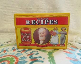Vintage Van Camp's Recipe Box