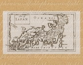 Map Of Isles of Japan From The 1600s 332 Asia Far East Ocean Tokyo Island World Sailing Digital Last Minute Gift Japanese Orient