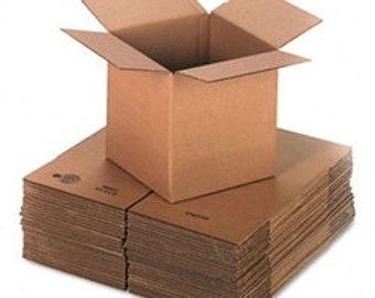 25 4x4x4 Cardboard Shipping Boxes, 32lb Edge crush Test High Quality Shipping Boxes, Mailing Boxes, Candle Boxes packing Boxes, Wholesale