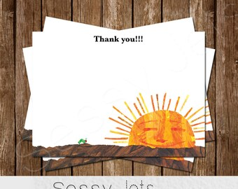 Very Hungry Caterpillar Birthday Thank You Card
