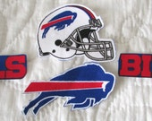 "Buffalo Bills ""NO SEW"" Appliques"