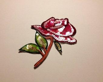 Sequin flower applique34-206