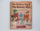 James Flora (Jim Flora) Illustrations ~ The Talking Dog and The Barking Man by Elizabeth Seeman First Edition 1980 Vintage Book