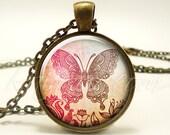 Bohemian Butterfly Necklace, Gypsy Pendant, Boho Jewelry (1891B1IN)