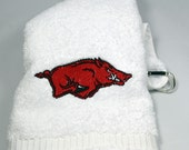 Embroidered Golf Towel/Workout Towel/Gym Towel with Grommet and Hook