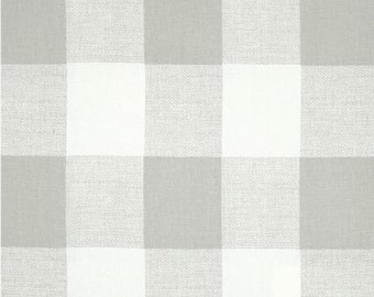 3 yards Gray Buffalo Check Anderson French Grey White  - Large Gingham  - Home Decor  - Premier Prints Duck cloth