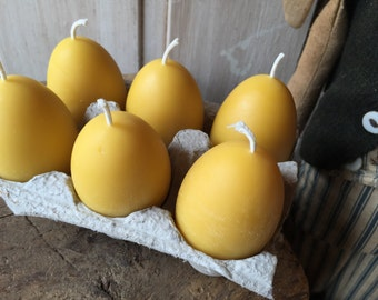 Egg Beeswax Votive Candle Ohio Beekeeper Made Easter Egg