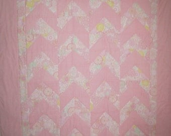 Pink and White baby quilt