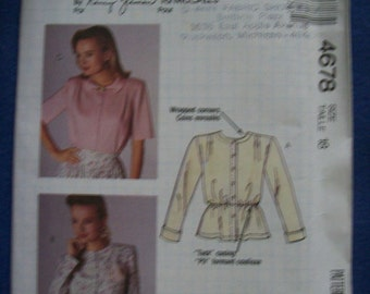 Busy Woman's Sewing 4678, McCall's 4678, Ladies Blouse