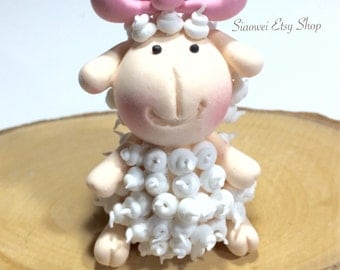 Lovely Sheep Cake Toppers - Made to order