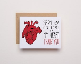 Bottom of My Heart - Thank You Card