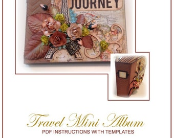 Travel Mini Album, PDF Instructions