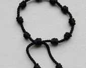 Knotted Bracelet (Large Cord) (Black) (Adjustable)