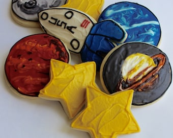Space Themed Sugar Cookies with Buttercream Frosting