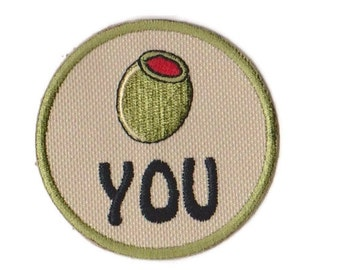 Olive Youl Embroidered Patch with Velcro Option