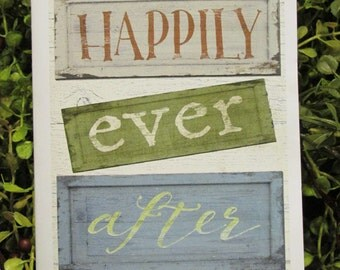 Happily Ever After Congratulations Greeting Card - FREE SHIPPING