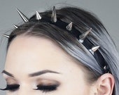 Spiked Headband   Silver Spiked Headband   Headdress   Spikes   Large Spiked Crown   Witchy   Goth   Metal   Kadabra Cult   TRINITY CROWN