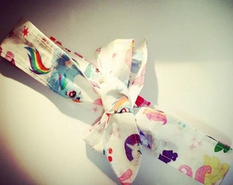 My Little Pony | Slim Head Scarf | 50s Vintage pin up girl | Bronies | My Little Pony Head scarf