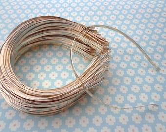 SALE--Gold headbands--10pcs 5mm gold metal headbands