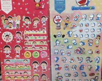 Japanese / Korean Stickers (Pick 1): Chibi Maruko-chan or  Doraemon