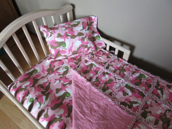 Pink Camo JOHN DEERE Fabric Crib Bedding Baby Or By 1723diane