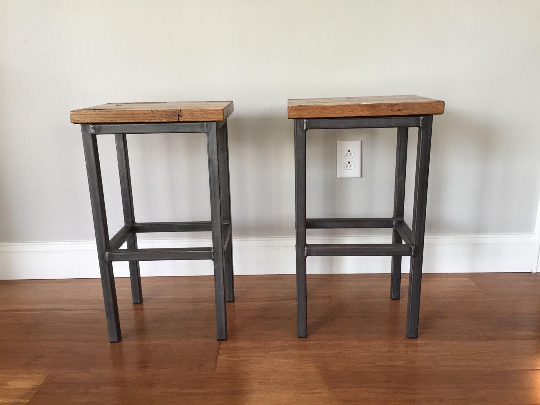 Reclaimed Wood Bar Stools ~ Reclaimed wood bar stools handmade in denver by stolcodesigns