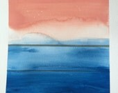 Original Watercolor Painting - Color Study No. 016