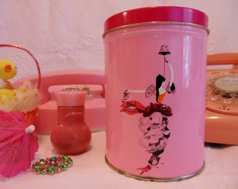 BLUM'S of San Francisco ~ 60's Kitchen ~ Rare Pink Tin  BLUM'S of San Francisco ~ Keepsake ~ Pink ~ Container ~ Chocolates  ~ Candy Canister