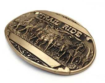 Trail Ride brass belt buckle - Award Design Metals, Inc.