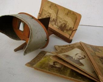 Vintage 1900 Stereoscope Worlds Fair Exposition-Universelle Internationale
