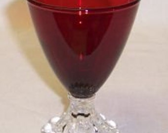 Anchor Hocking Fire King Royal Ruby Red BOOPIE 4 1/2 Inch High Juice Tumbler or Glass