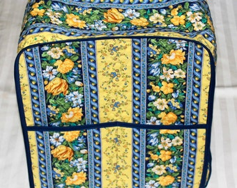 KitchenAid Mixer Cover With Pockets - 4.5, 5.5 or 6 Quart Pro Mixer/Appliance Cover - KitcheAid Mixer Cover - Blue and Yellow