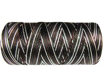 15 Meters Macrame Cord - Nylon Cord Multicolor (not waxed) - Crochet Thread - Dark Brown