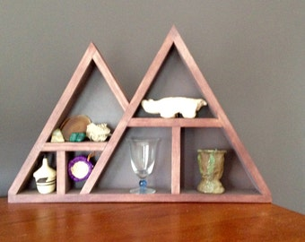 Rustic Triangle Wall Shelf