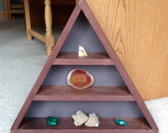 Rustic Triangle Display Shelf