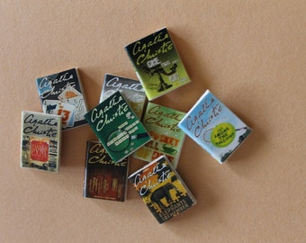 Dollhouse miniature Agatha Christie 9 books set