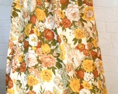 Mid Century Drape Floral Drape Butterfly Curtain Living Room Drape Bedroom Drape Dining Room Curtain Floral Curtain Panel Red Gold Curtain