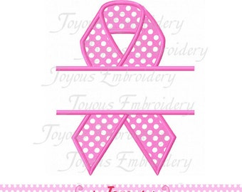 Instant Download Awareness Ribbon Applique Machine Embroidery Design NO:1764